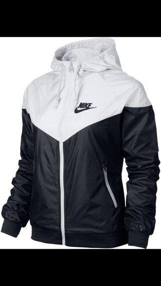 Veste Nike Coupe-vent Des Femmes De Nikes Noir Et Blanc