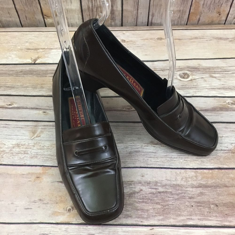 071d36e9e4 Cole Haan City Shoe Women s Size 5 1 2 Brown Leather Penny Loafer Dress  Italy  ColeHaan  LoafersMoccasins