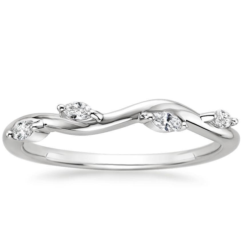 18K White Gold Winding Willow Diamond Ring (1/8 ct. tw