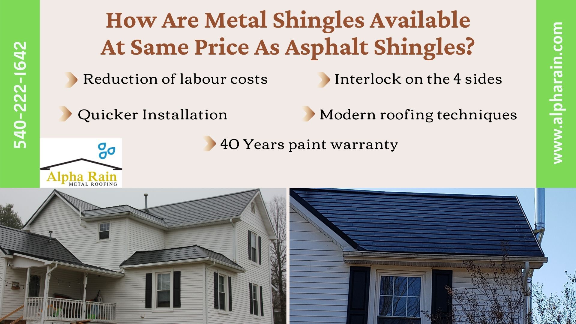 How Is It Possible To Have Metal Shingles Cost Same As Asphalt Shingles In 2020 Metal Shingles Shingling Metal Shingle Roof