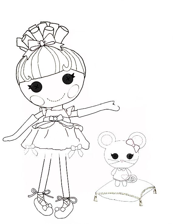 Lalaloopsy cinder slippers coloring page coloring pages for Lalaloopsy free printable coloring pages