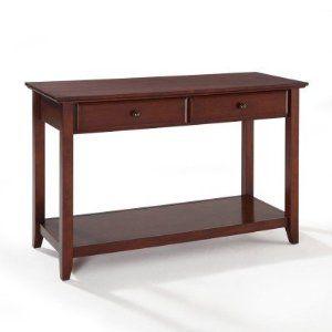 Amazon Com Crosley Furniture Sofa Table With Storage Drawers In Vintage Mahogany Finish Furniture Decor Sofa Table With Storage Furniture Sofa Tables