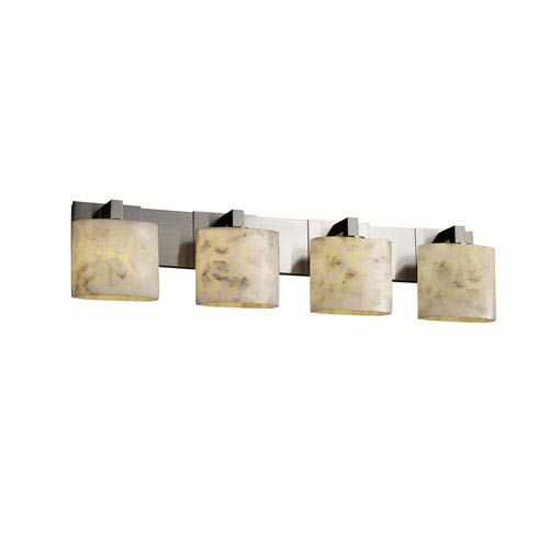Photo of Justice Design Group ALR-8924-30-ABRS Alabaster Rocks Modular four-light bathroom fitting made of antique brass, contemporary and modern | Bellacor