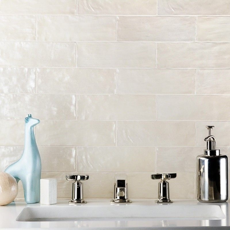 Montauk Sand Dune 2x8 Ceramic Wall Tile Handmade Tile Backsplash Ceramic Wall Tiles Ceramic Tile Bathrooms