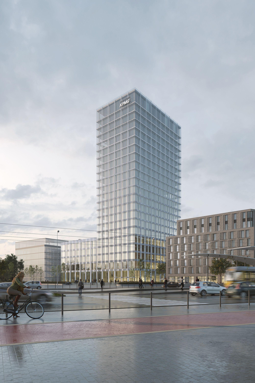 allmann sattler wappner architekten baufeld 4 hochhaus am europaplatz gute visualisierung. Black Bedroom Furniture Sets. Home Design Ideas