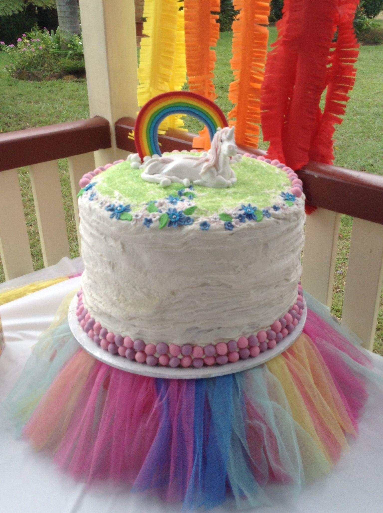 Rainbow Unicorn cake Party Ideas Pinterest Rainbow unicorn
