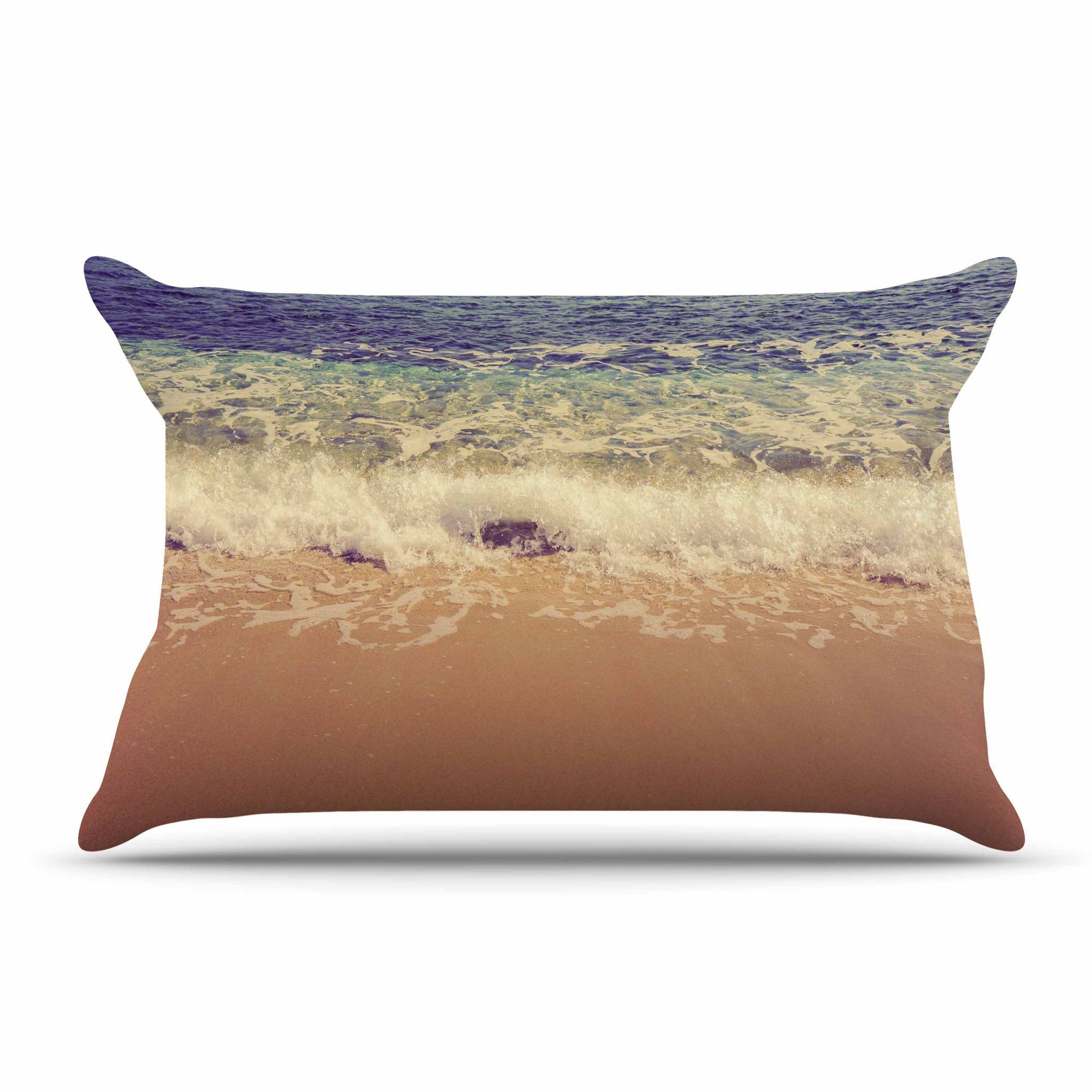 "Violet Hudson ""Crashing Waves"" Beach Coastal Pillow Case"
