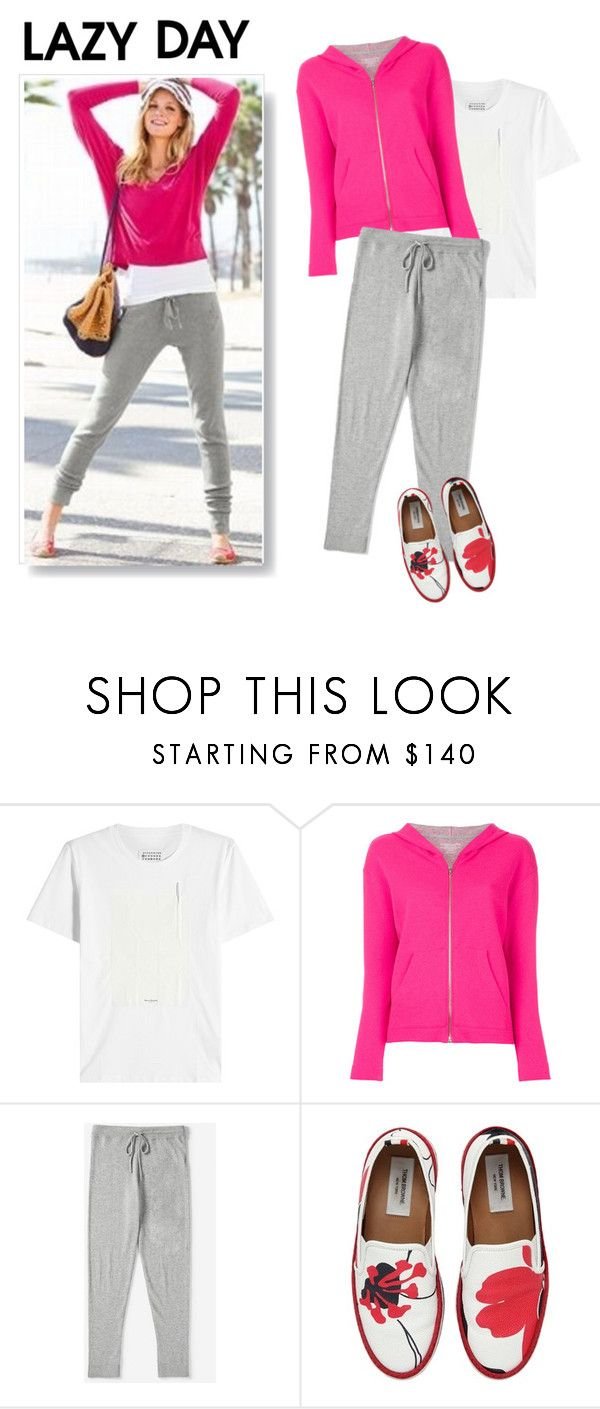 """Comfy Loungewear"" by metter1 ❤ liked on Polyvore featuring Maison Margiela, Majestic Filatures, Everlane and Thom Browne"