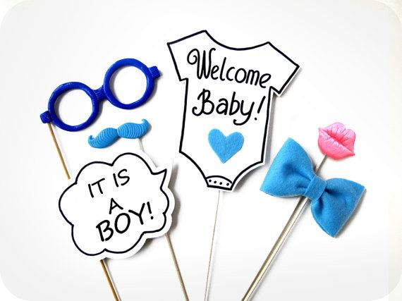 it s a boy photo booth props 6 piece photo prop baby shower