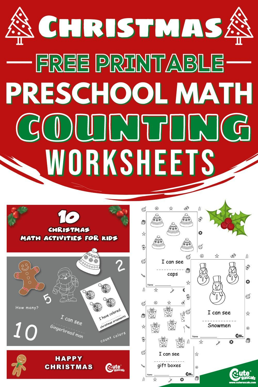 Fun Printable Christmas Math Worksheets For Preschoolers Christmas Math Worksheets Printable Activities For Kids Christmas Math [ 1500 x 1000 Pixel ]
