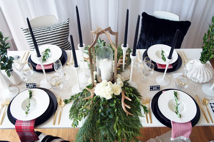 for the home lessons from a stylist how to set up a black white holiday table so fresh so chic