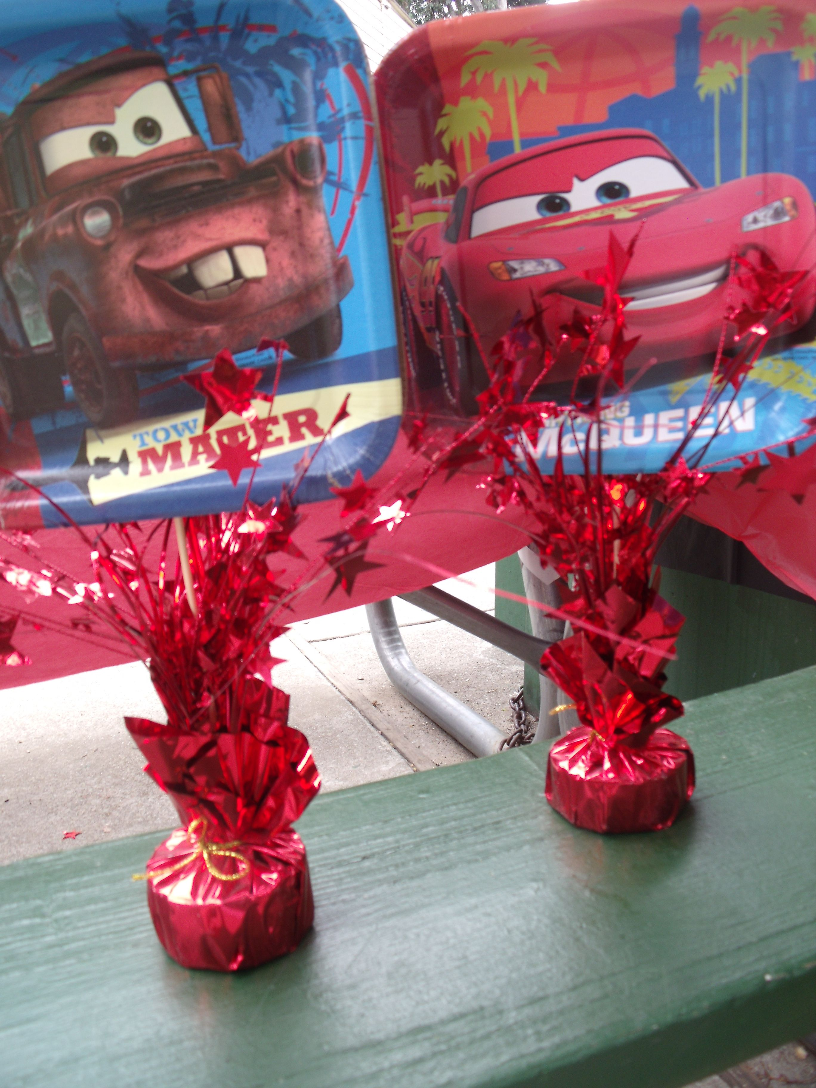 Cars Table Decorations My Sons 4th Birthday Party Disney Cars Theme Jaydens Party