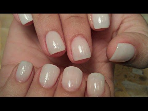 HOW TO SOFT WHITE NATURAL NUDE ACRYLIC NAILS TUTORIALS… | Beauty ...