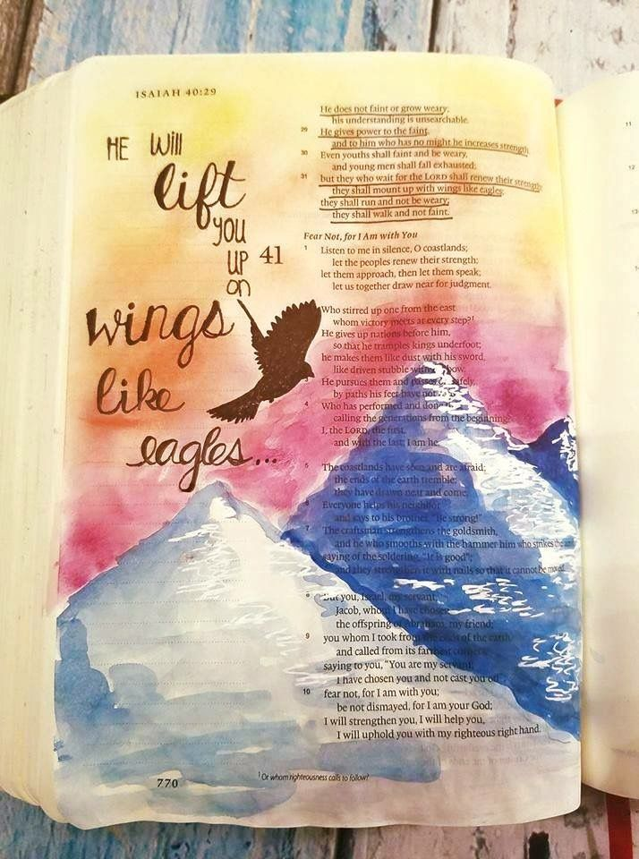 Pin On Bible Journaling Mountains Inspiration