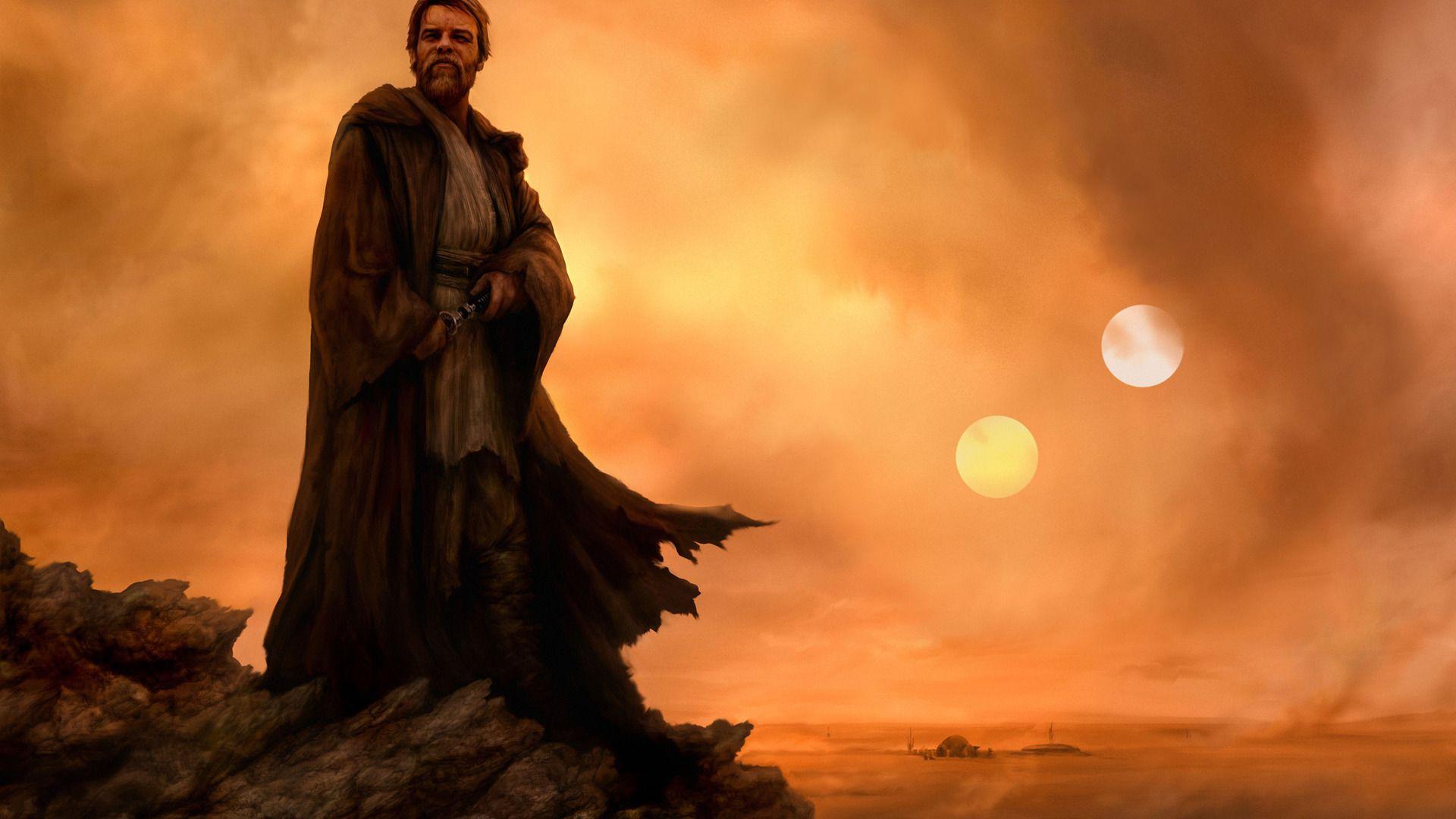 Obi Wan In Exile A Silent Guardian On A Dusty Planet 1920x1080 Followme Cooliphone6case On Twitter Facebook Star Wars Wallpaper Obi Wan Obi Wan Kenobi