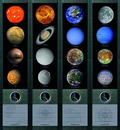 file art 4 design ordner etiketten planets 463 small spaces. Black Bedroom Furniture Sets. Home Design Ideas