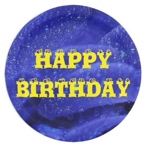 Blue Rose Flower Floral Happy Birthday Yellow Cool Paper Plate  sc 1 st  Pinterest & Blue Rose Flower Floral Happy Birthday Yellow Cool Paper Plate ...
