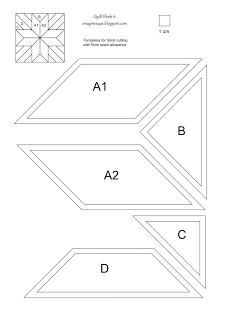 Quilt Block 6 Pattern And Templates Steppmuster Nahen Auf Papier Nach Englischer Art Nahen Auf Papier