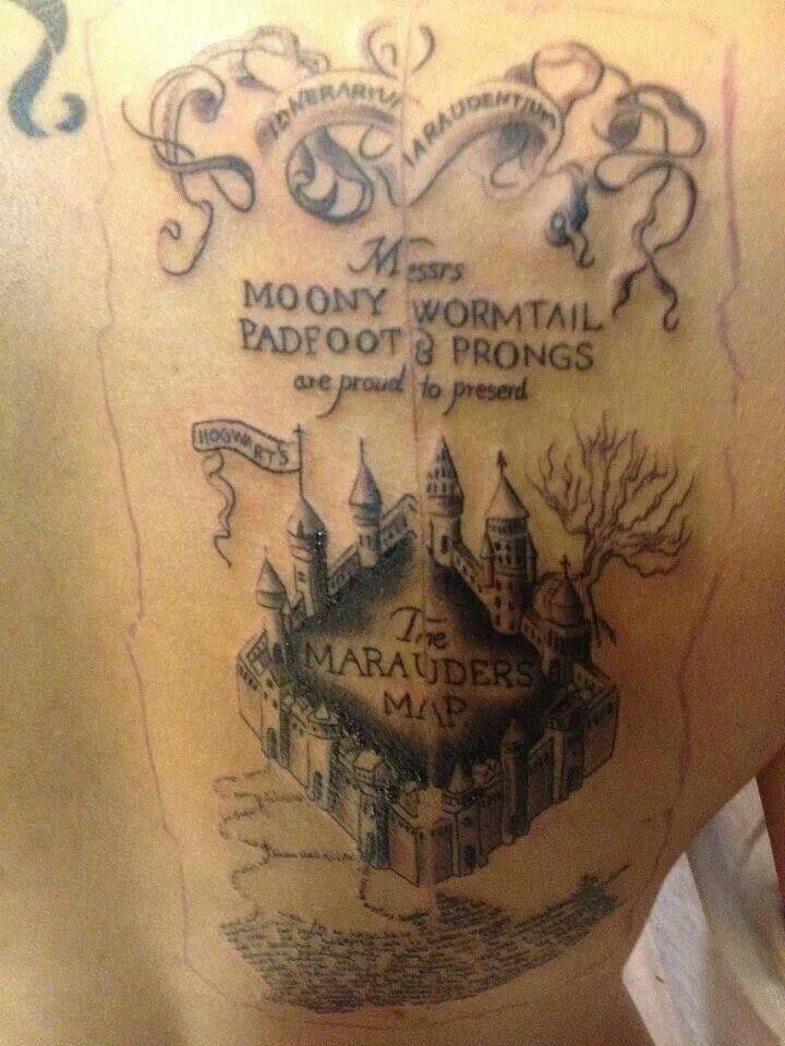 Harry Potter Karte Des Rumtreibers Tattoo.Marauders Map Tattoo Tattoo Ideas Harry Potter Tattoos