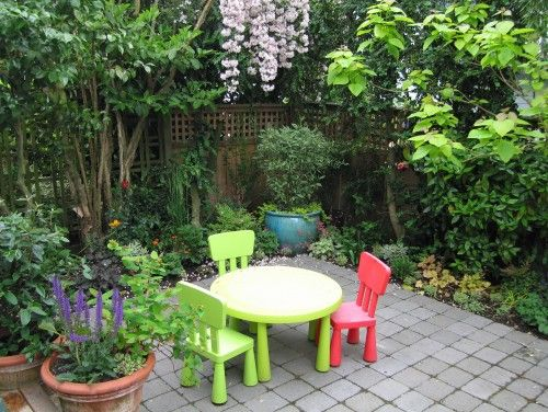 eclectic landscape by Noland Landscape Design - Kiddie Korner in the Garden
