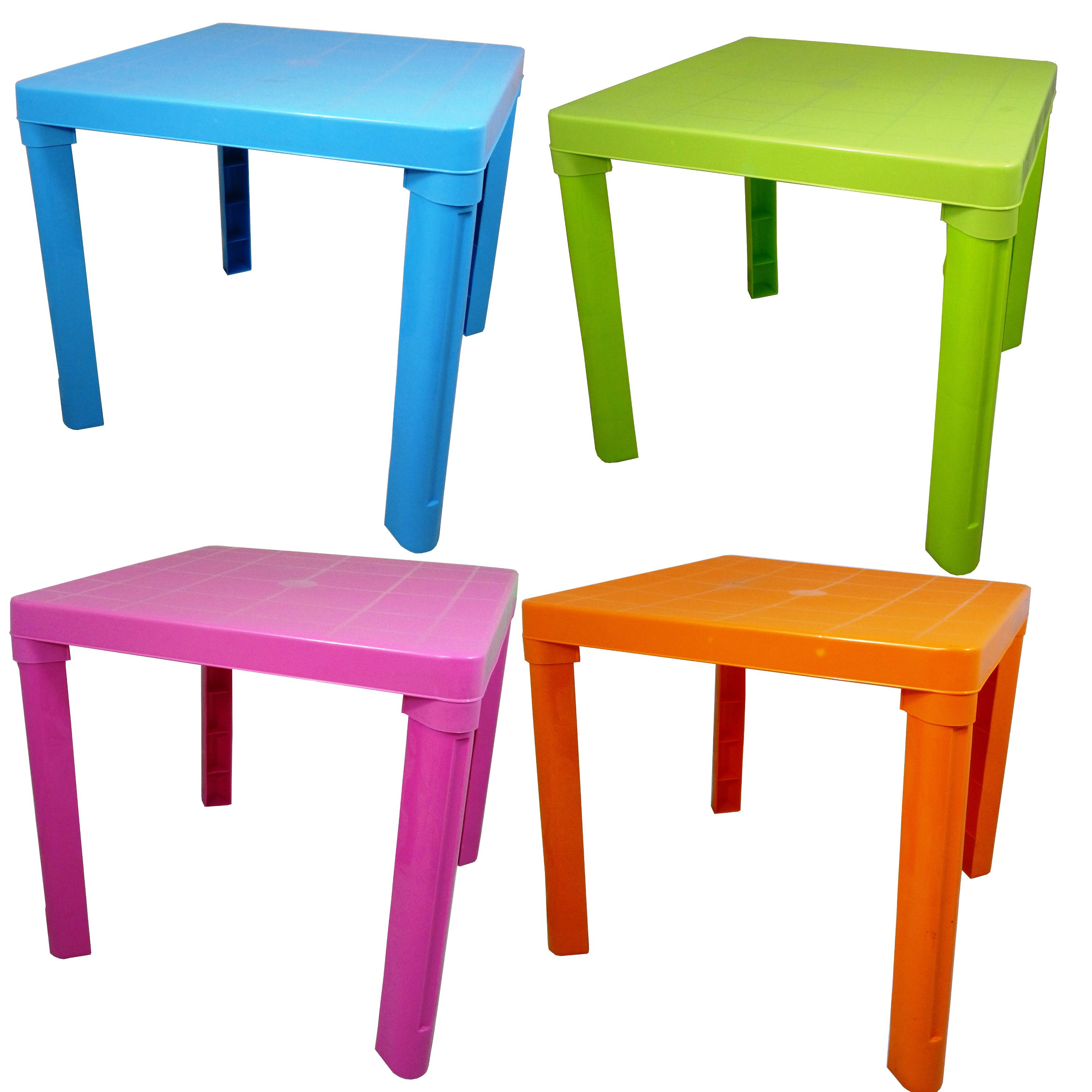 Kids Children Plastic Table 4 Colours Home Garden Picnic ...