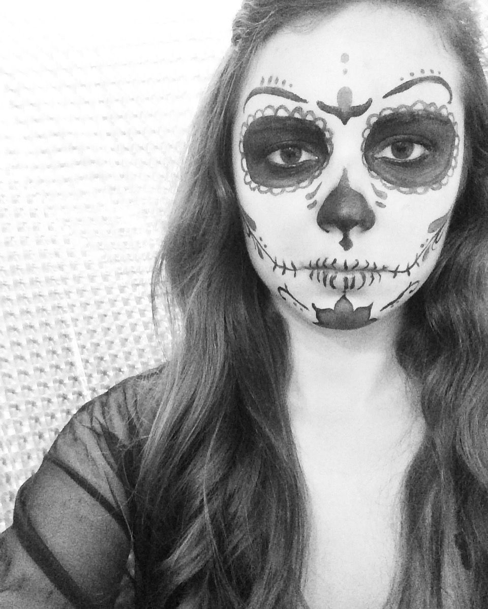 Day of the dead sugar skull makeup