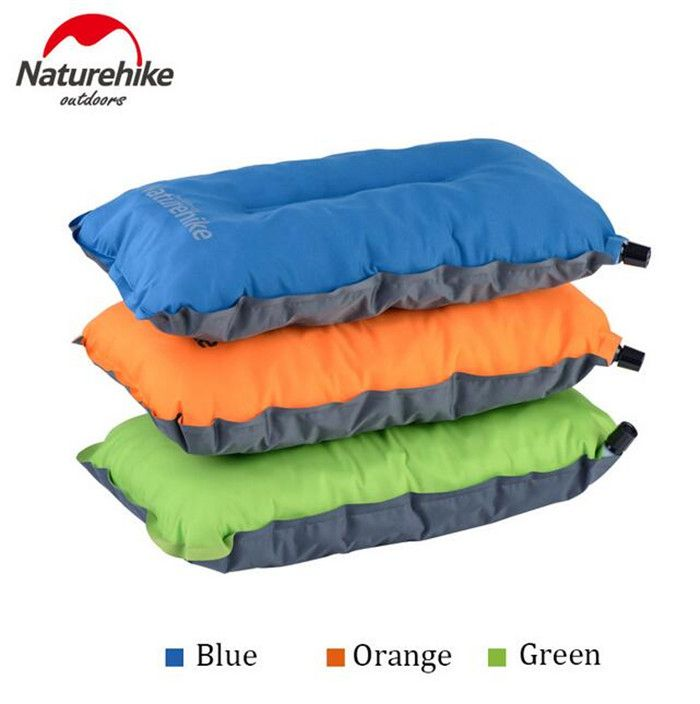Naturehike Portable Suede Anti-Slip Comfortable Travel Outdoor Office Sleep Inflatable Blow Up Pillow Cushion