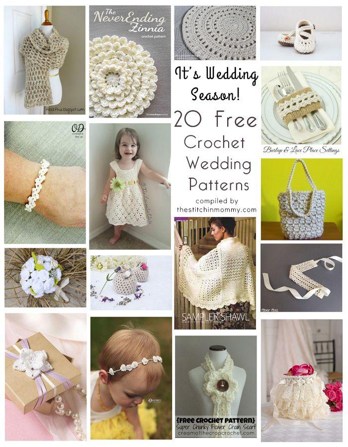It\'s Wedding Season! 20 Free Crochet Wedding Patterns   Pinterest ...