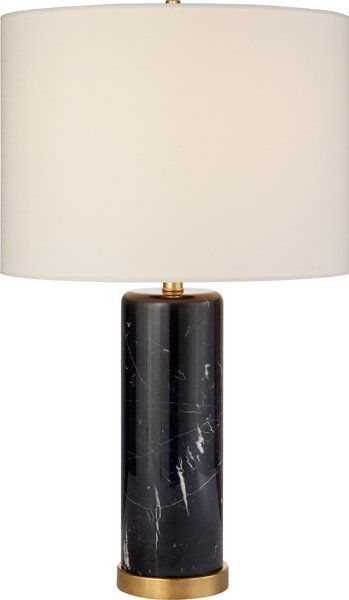 Aerin Lauder For Circa Lighting | Black Marble Lamp | Cliff Table Lamp