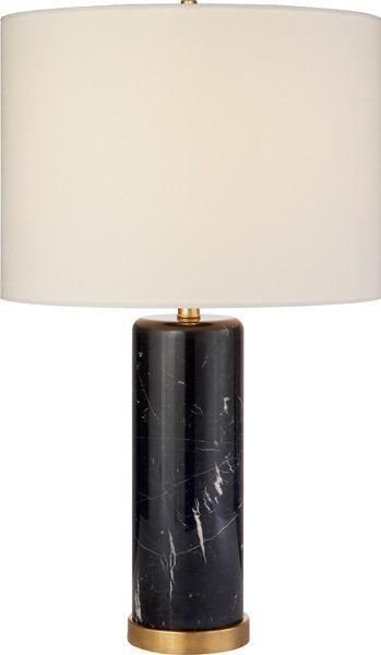 Aerin Lauder For Circa Lighting | Black Marble Lamp | Cliff Table Lamp