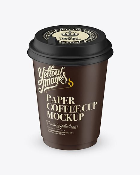 Download Matte Coffee Cup Mockup (High-AngleShot) Download Matte ...