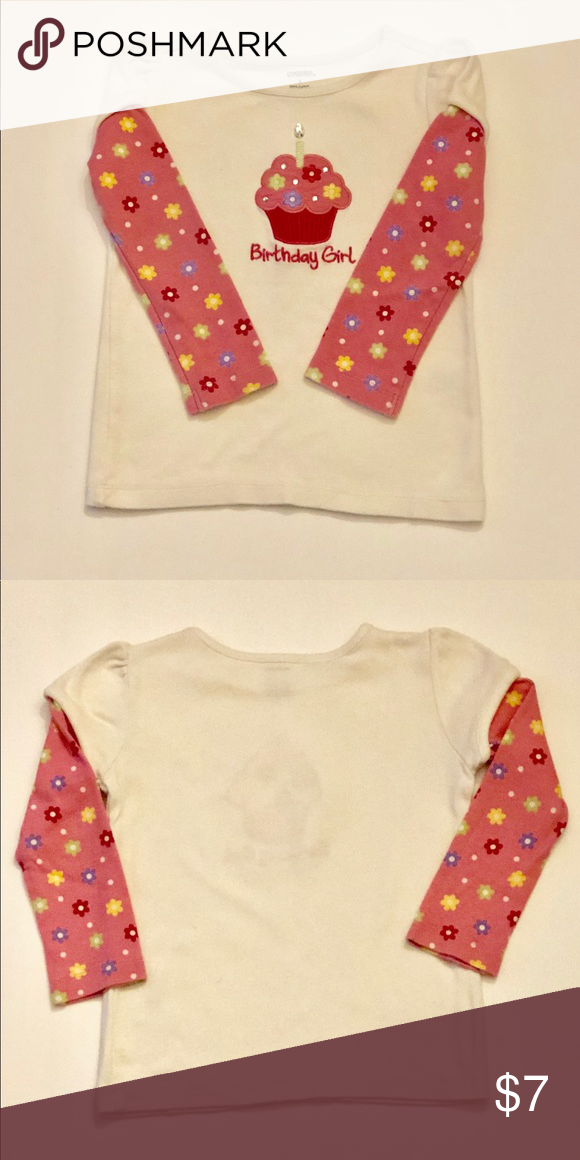NWT Gymboree Happy Birthday Cupcake Top Girl/'s Size 2T CUTE!