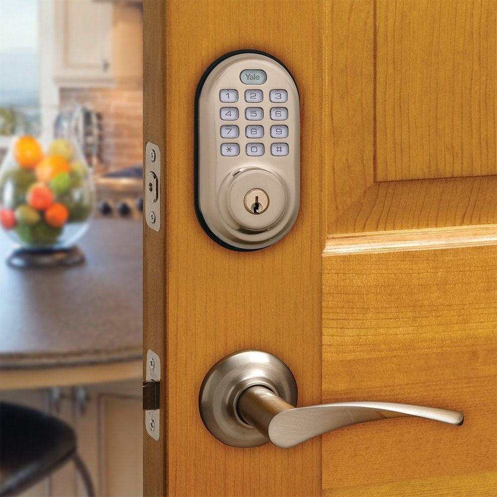 Yale PushButton Electronic Deadbolt with Optional ZWave