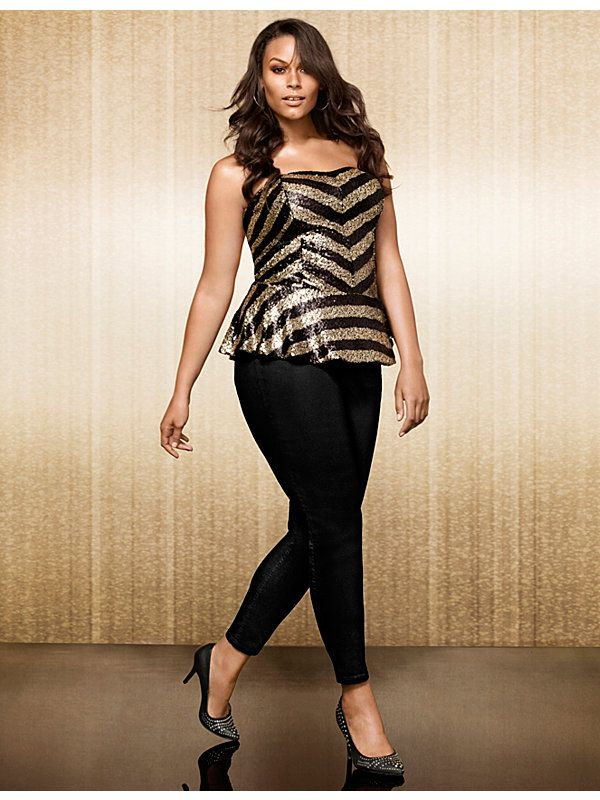9cda3356f18d Gotta Have It: This Sequins Plus Size Bustier from Lane Bryant ...