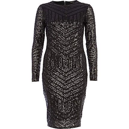 Black pacha tribal embellished maxi dress