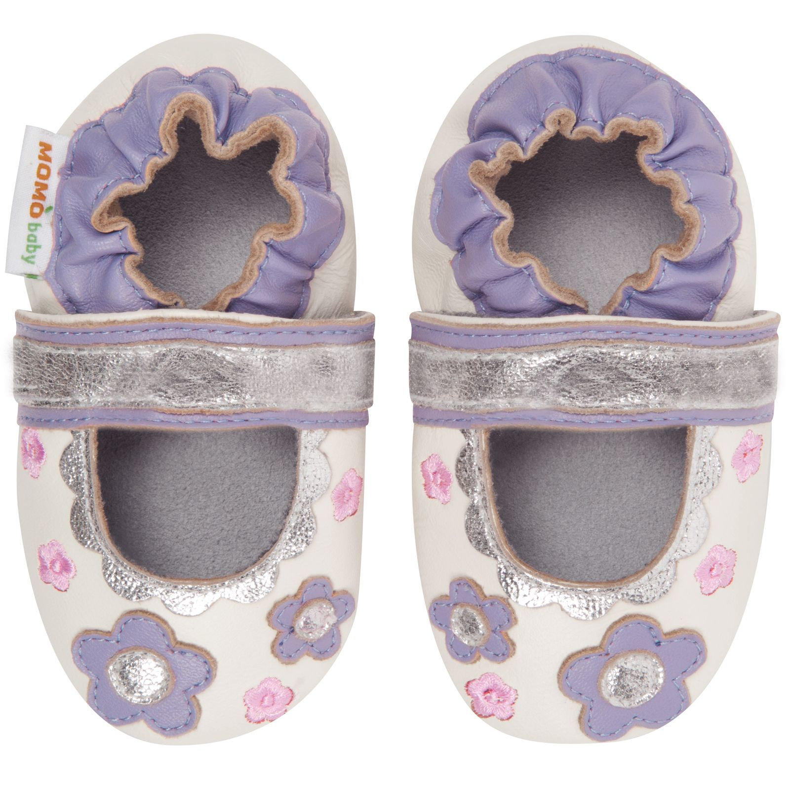 Allowing your baby to go barefoot helps the foot to grow normally