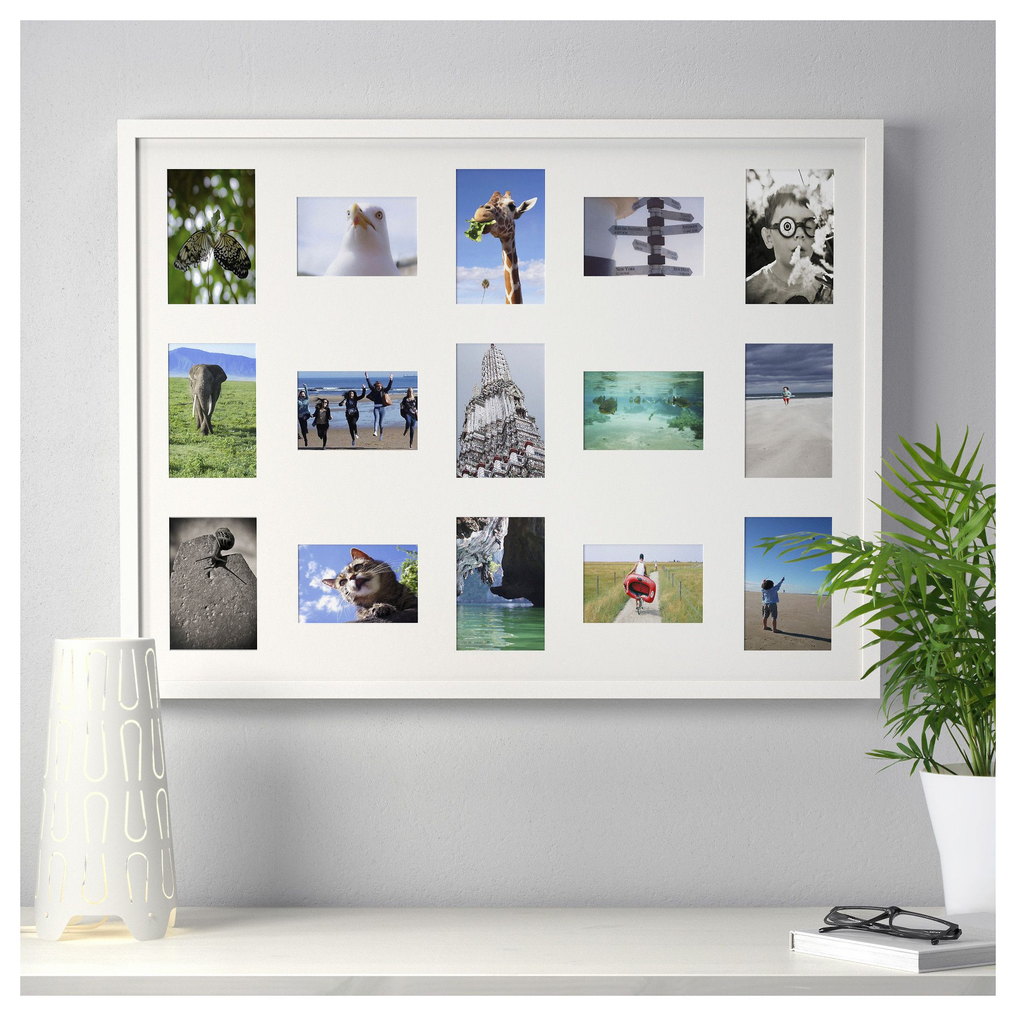 RIBBA Frame for 15 pictures White IKEA