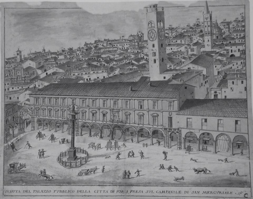 Piazza Saffi Antica Stampa Forl Pinterest