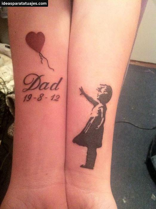 Tatuaje En Honor A Un Padre Tatuajes Tattoos Memorial Tattoos Y