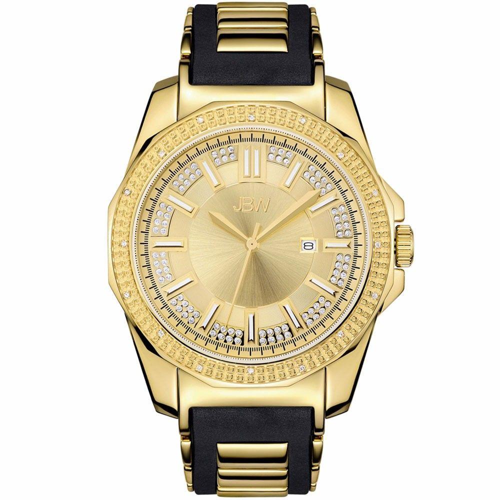 Plasmalift Plasma Soft Surgery Gold Plated Watch Black Rubber Bands Diamond Watch