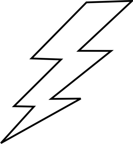lightning bolt coloring pages | free lightning bolt stencil | Lightening clip art ...