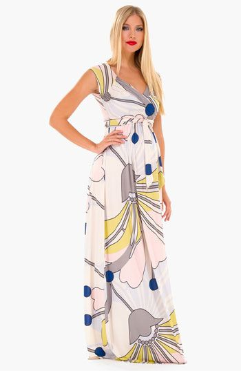 Olian Print Maxi Maternity Dress | Nordstrom | New Mom Again ...