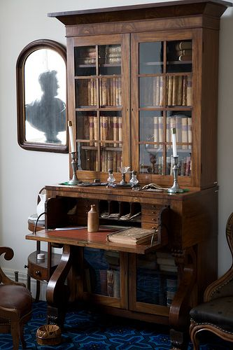 Antique Secretary Desk With Hutch