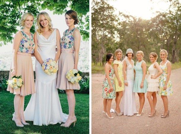 Fl Print Bridesmaid Dresses Printed