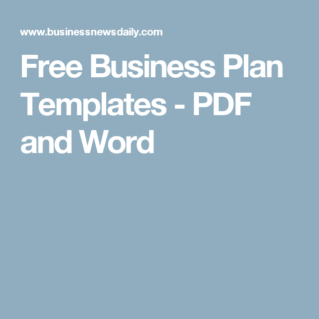 Free Business Plan Templates For Startups Free Business Plan - Free business plan templates for startup businesses