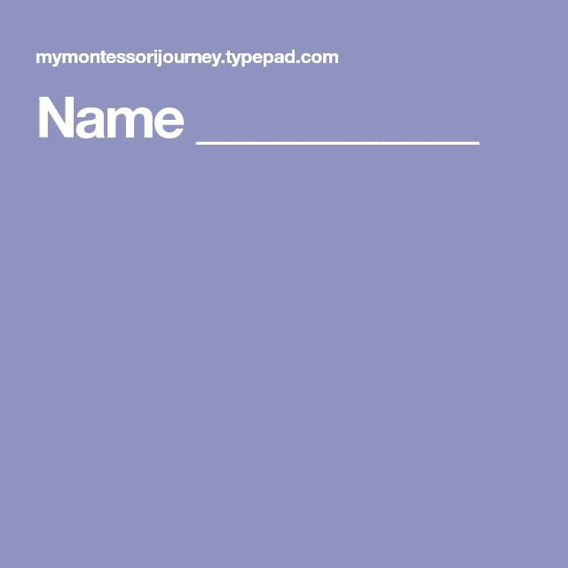 Name ___________