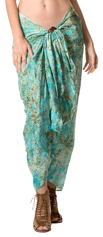 9da3e3bdcb8d LA LEELA Rayon Tie Dye Beach Cover Up Swimsuit Swimwear Wrap Pareo Womens  Sarong#Tie, #Dye, #Beach