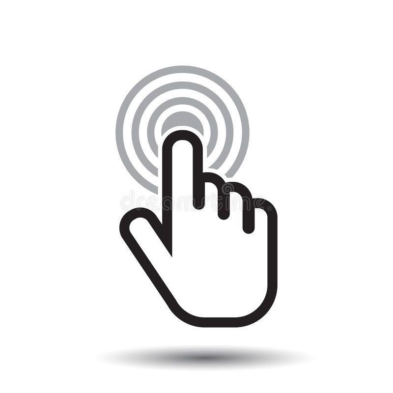 Click Hand Icon Cursor Finger Sign Flat Vector Vector Illustration Hands Icon Vector Illustration Icon