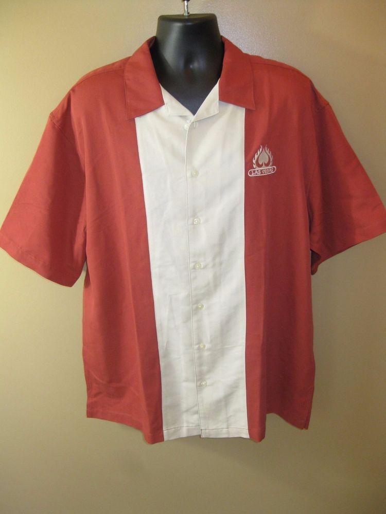 Cabana Breeze (Ultra Club) Las Vegas Men's X-Large Shirt - Orange/Ivory NWT #UltraCllub #Hawaiian