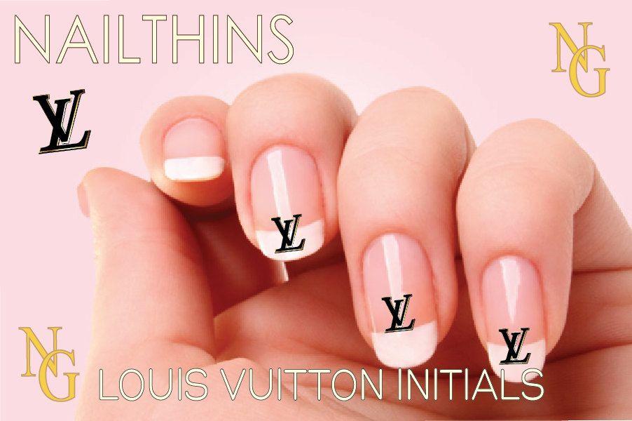 Louis Vuitton LV Nail art Nail decal NAILTHINS nail design. $3.25 ...